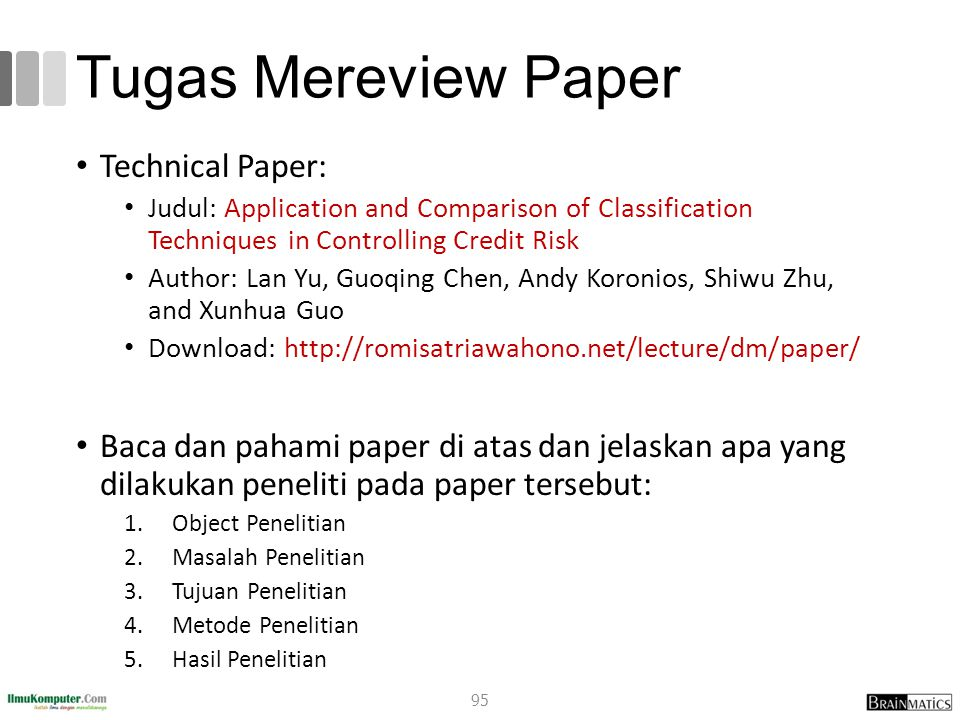 Tugas Mereview Paper Technical Paper: