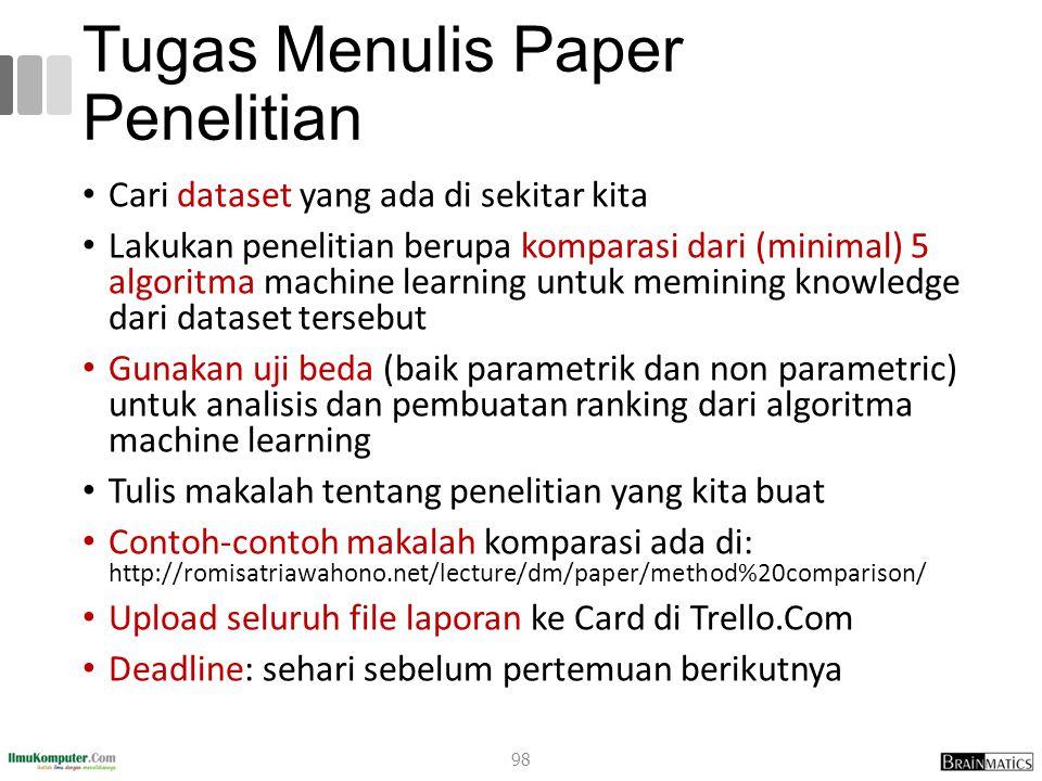Tugas Menulis Paper Penelitian