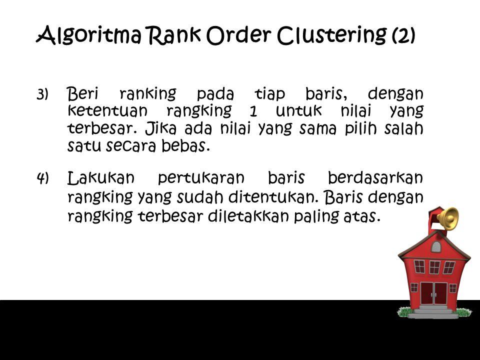 Algoritma Rank Order Clustering (2)