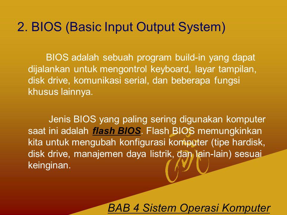 2. BIOS (Basic Input Output System)