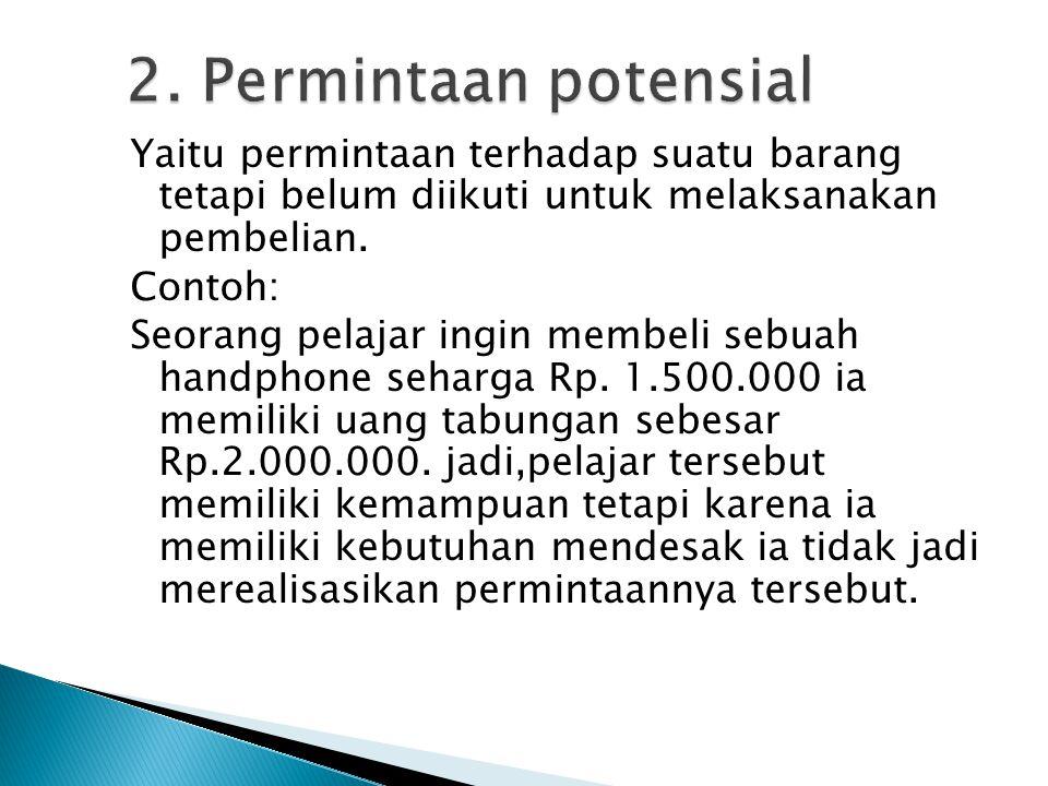2. Permintaan potensial