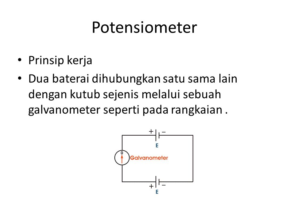 Potensiometer Prinsip kerja