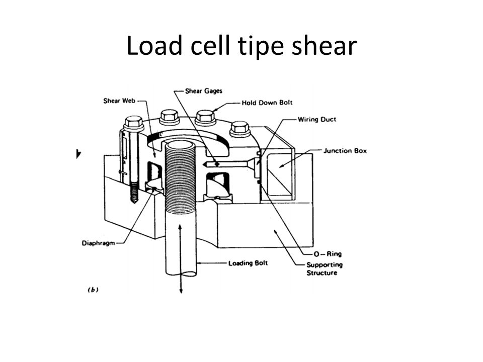 Load cell tipe shear