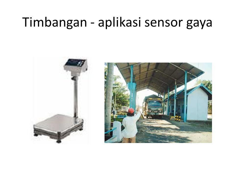 Timbangan - aplikasi sensor gaya