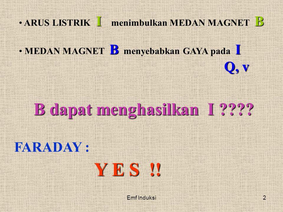 Y E S !! B dapat menghasilkan I FARADAY :