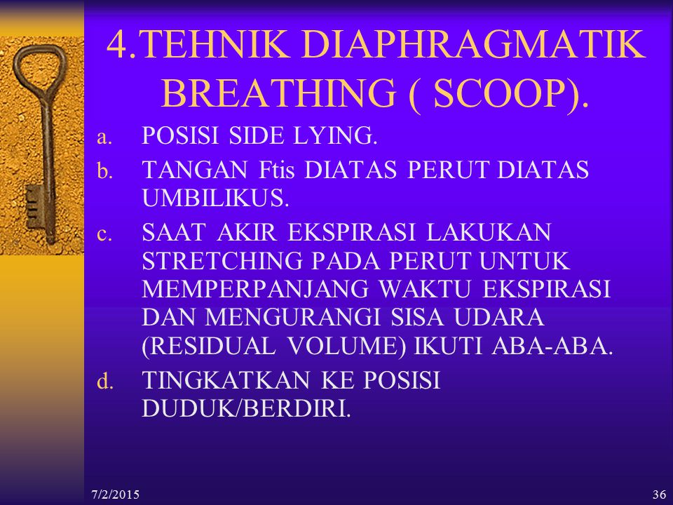 4.TEHNIK DIAPHRAGMATIK BREATHING ( SCOOP).