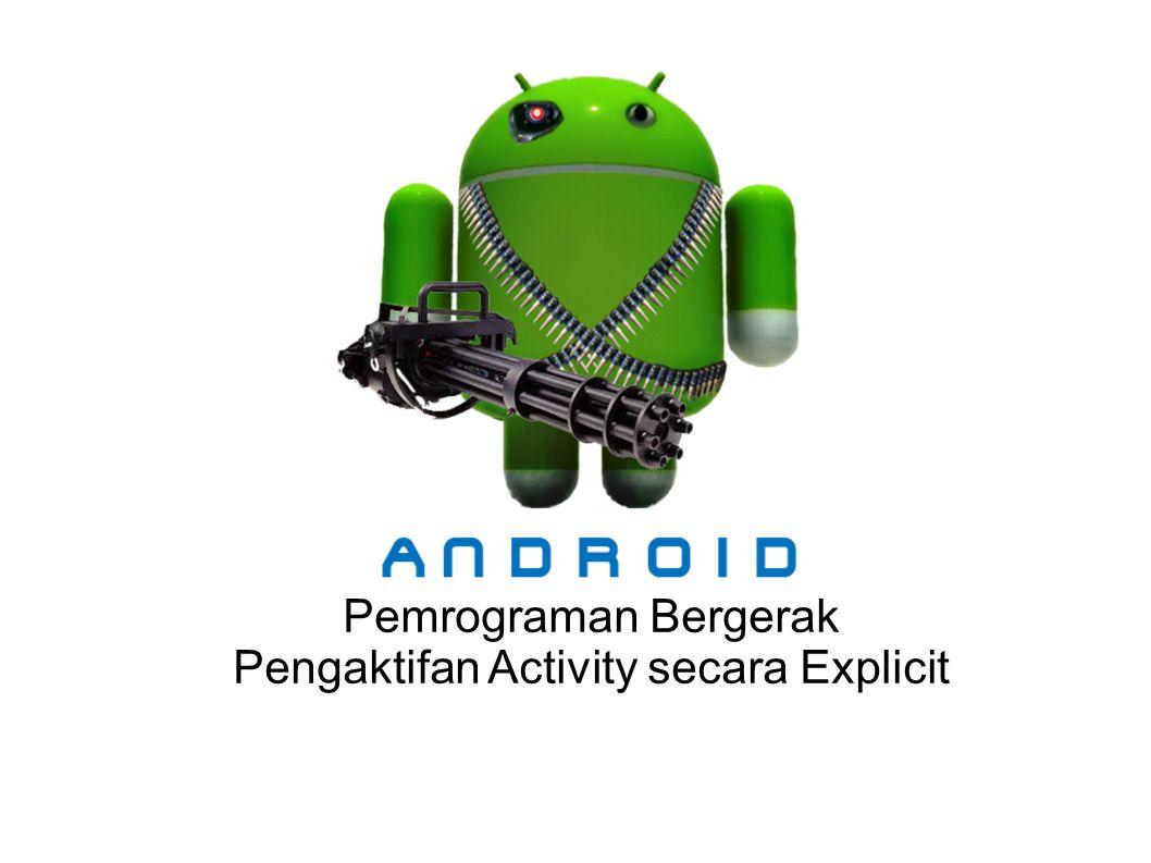 Pengaktifan Activity secara Explicit