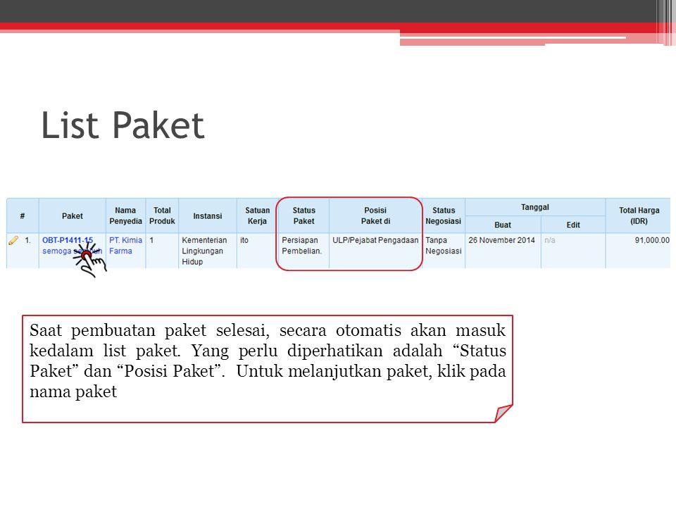 List Paket