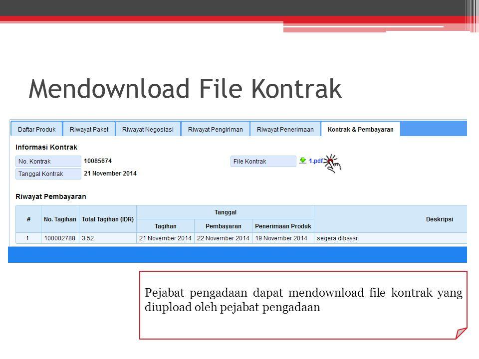 Mendownload File Kontrak