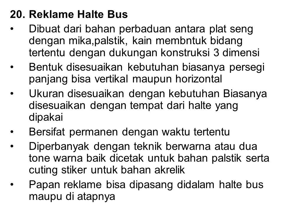 Reklame Halte Bus