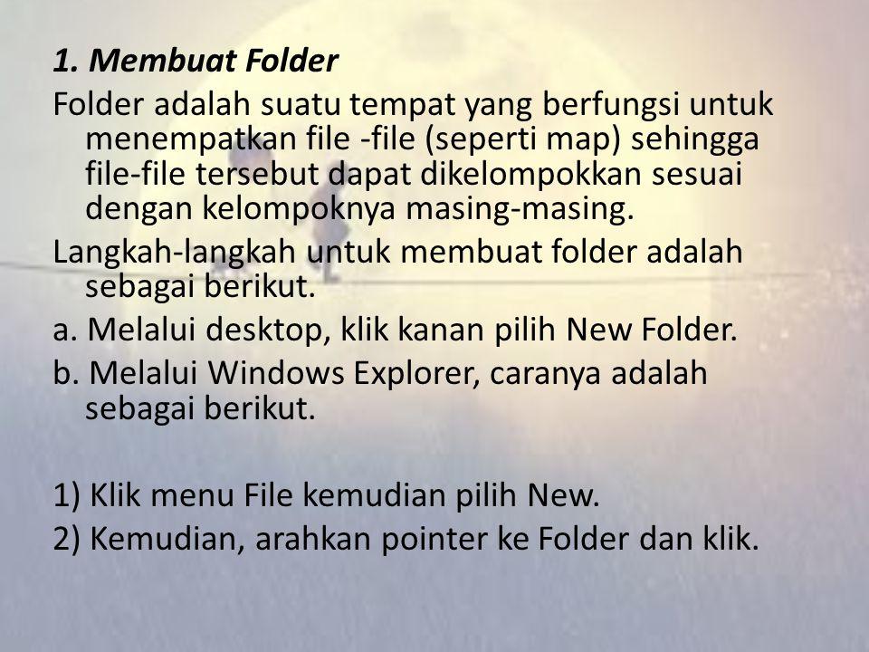 1. Membuat Folder