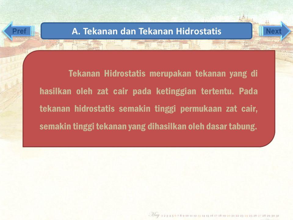 A. Tekanan dan Tekanan Hidrostatis
