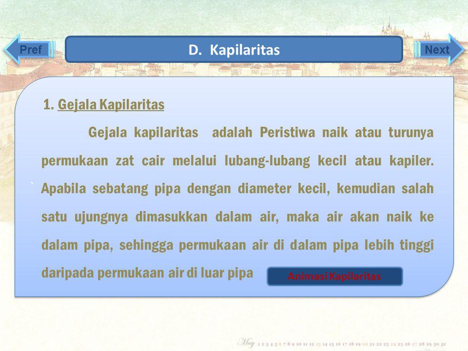 D. Kapilaritas 1. Gejala Kapilaritas