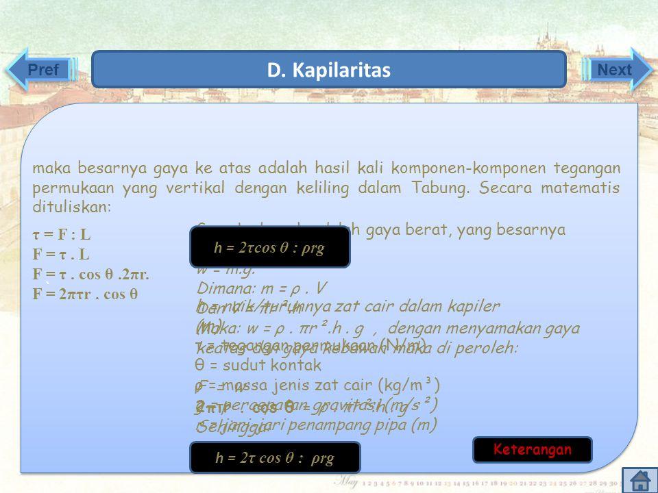 D. Kapilaritas Pref Next `
