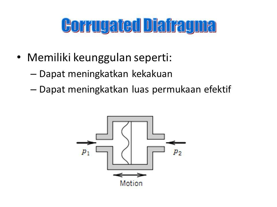 Corrugated Diafragma Memiliki keunggulan seperti: