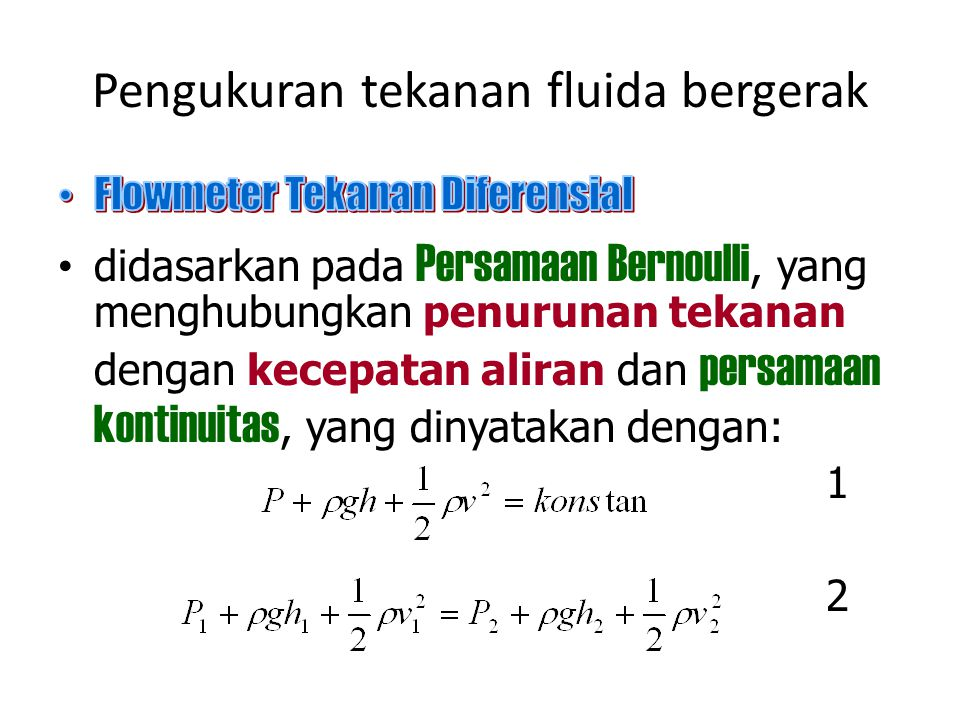 Pengukuran tekanan fluida bergerak