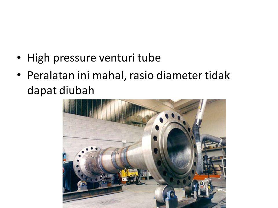 High pressure venturi tube