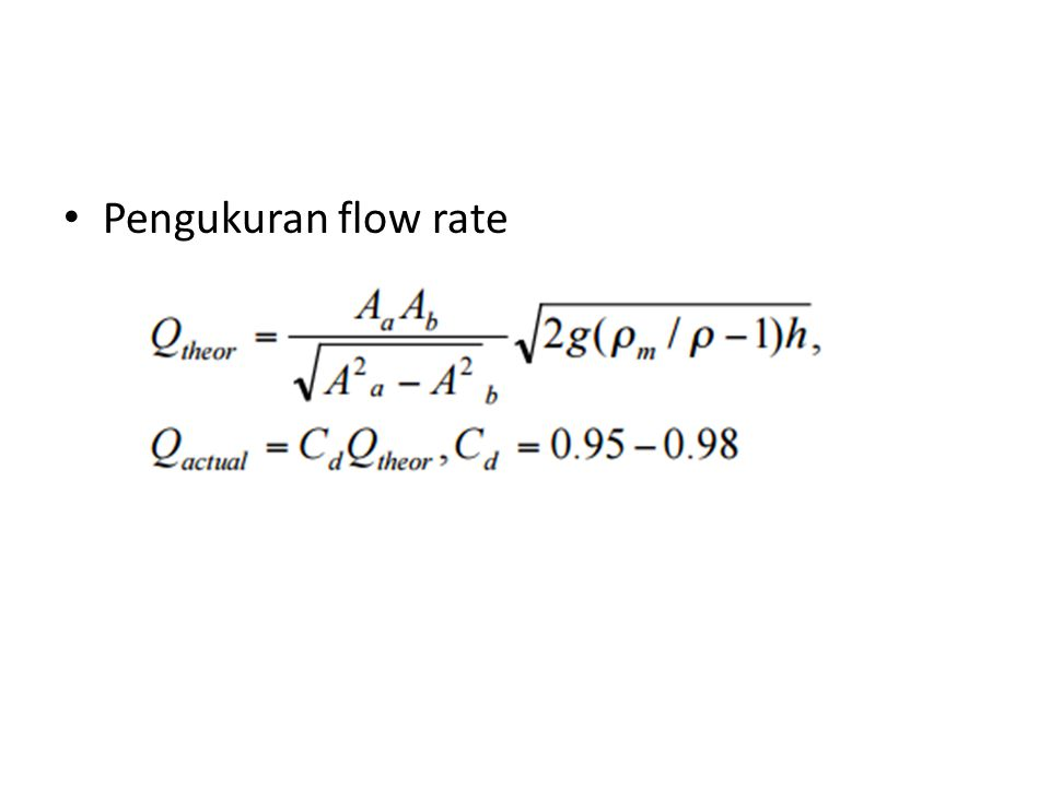 Pengukuran flow rate