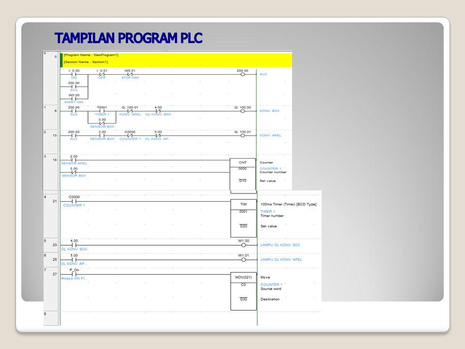 TAMPILAN PROGRAM PLC