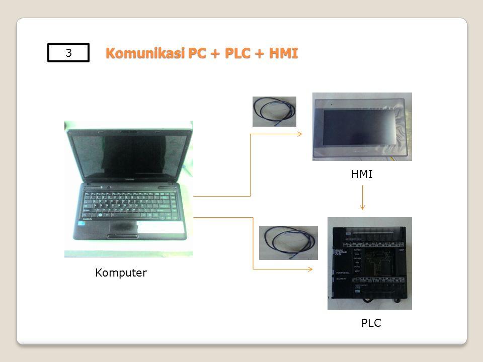 Komunikasi PC + PLC + HMI