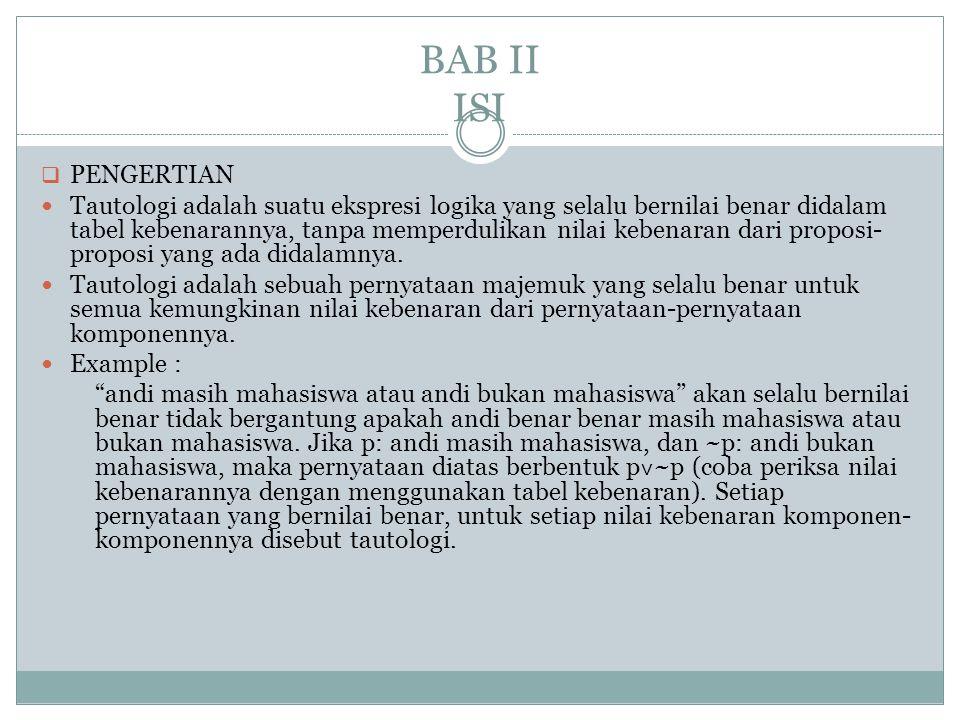 BAB II ISI PENGERTIAN.