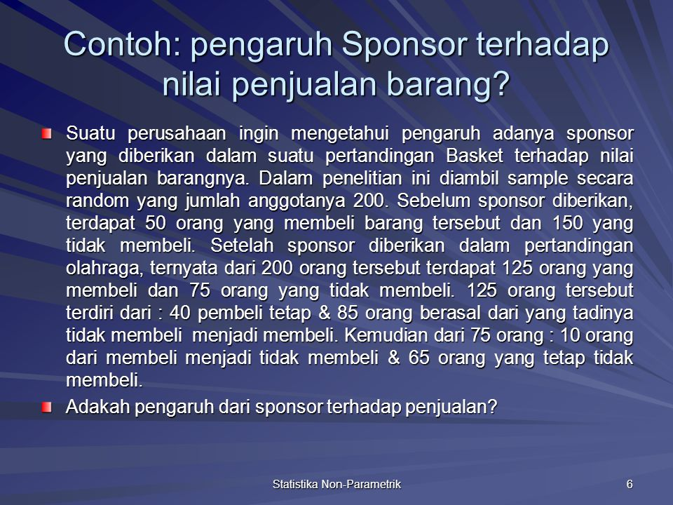 Contoh: pengaruh Sponsor terhadap nilai penjualan barang