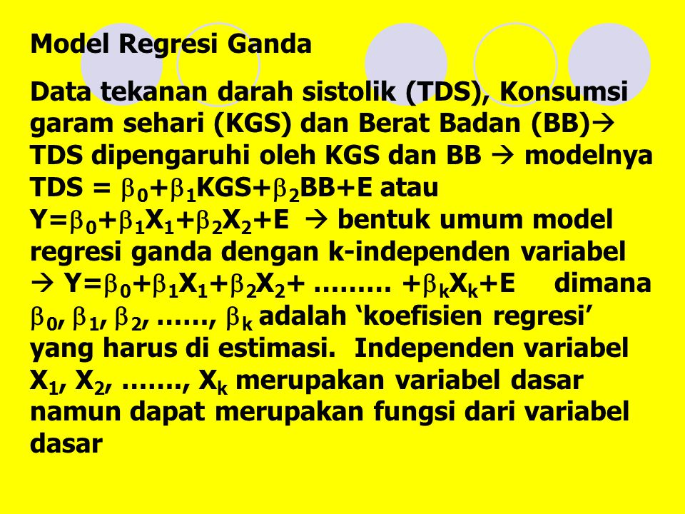 Model Regresi Ganda