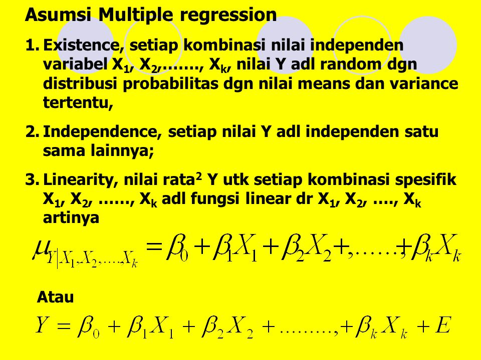 Asumsi Multiple regression
