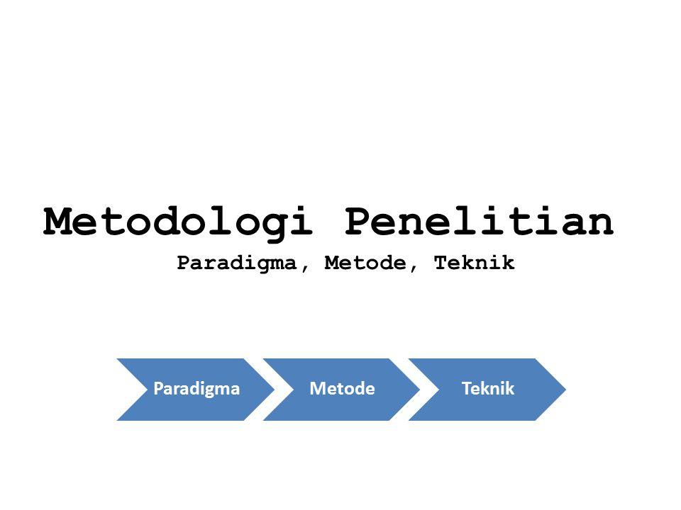 Paradigma, Metode, Teknik