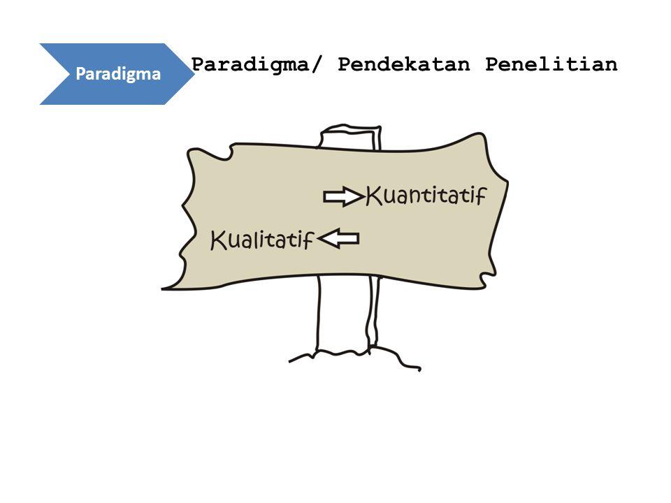 Paradigma/ Pendekatan Penelitian