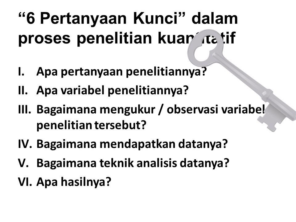 6 Pertanyaan Kunci dalam proses penelitian kuantitatif