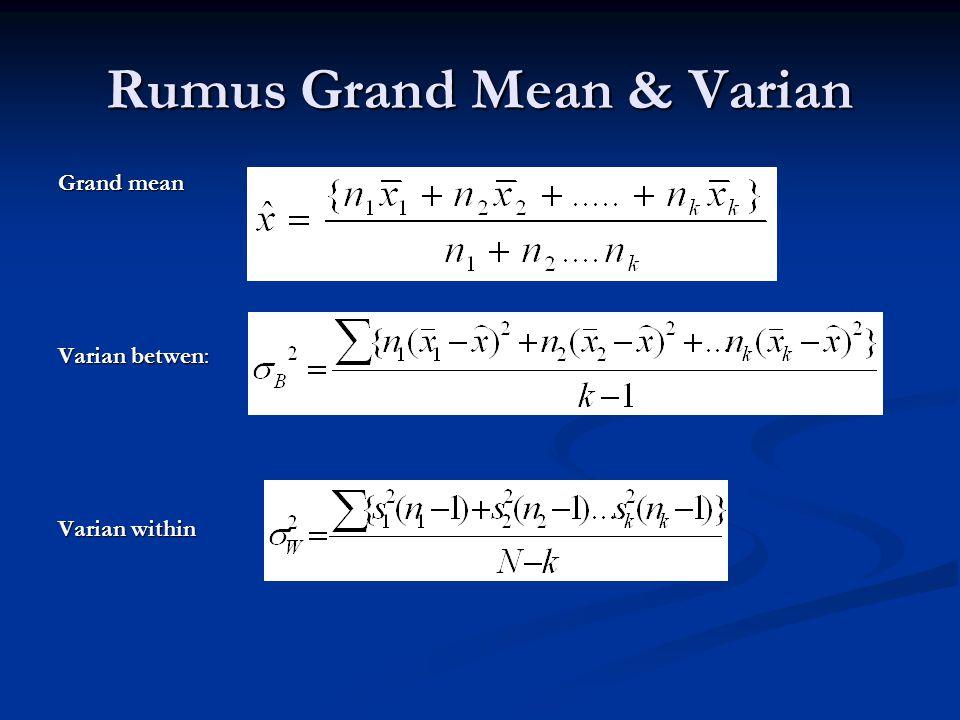 Rumus Grand Mean & Varian