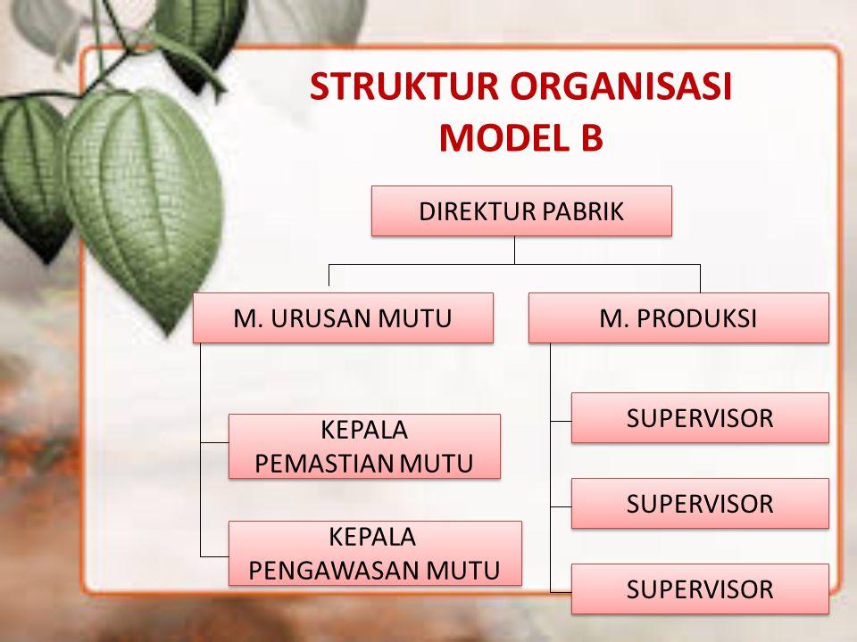 STRUKTUR ORGANISASI MODEL B