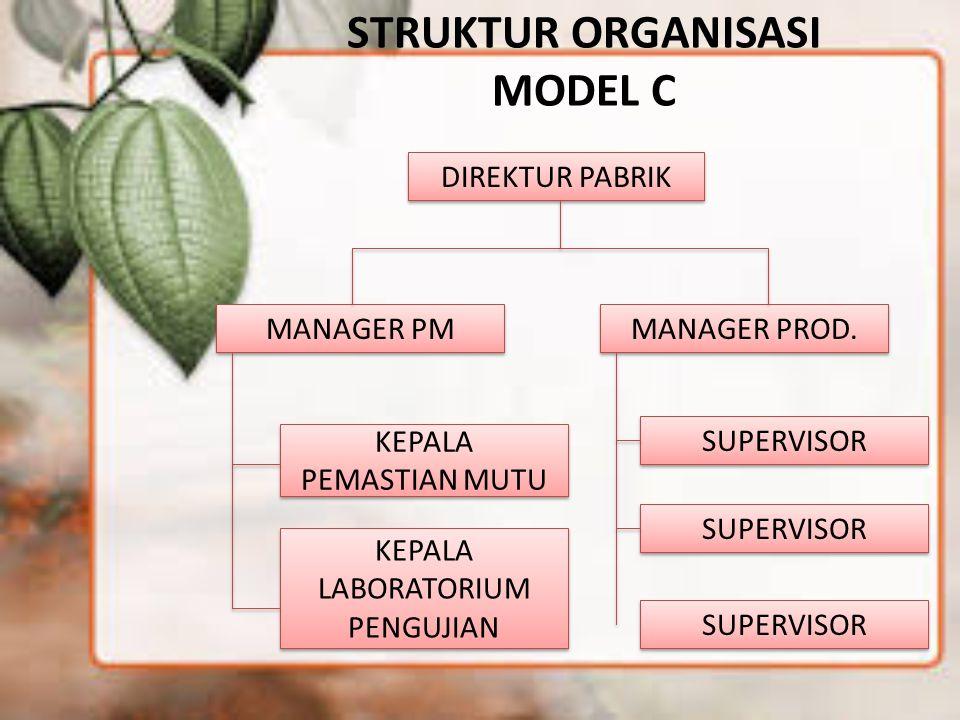 STRUKTUR ORGANISASI MODEL C