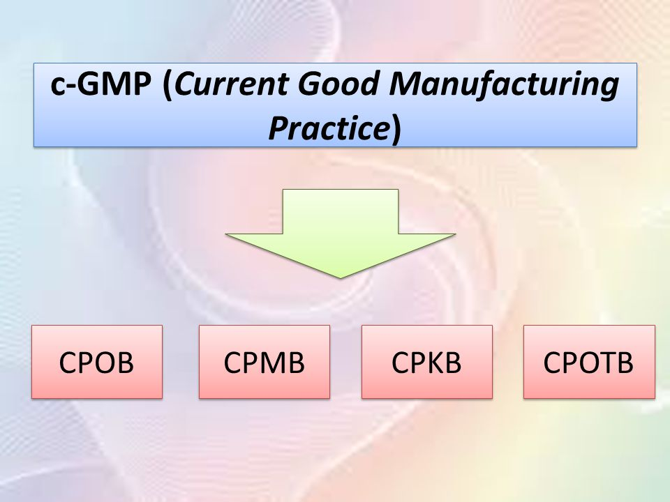 c-GMP (Current Good Manufacturing Practice)