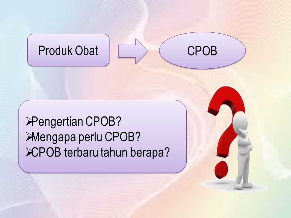 CPOB Produk Obat Pengertian CPOB Mengapa perlu CPOB CPOB terbaru tahun berapa