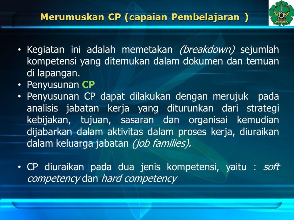 Merumuskan CP (capaian Pembelajaran )
