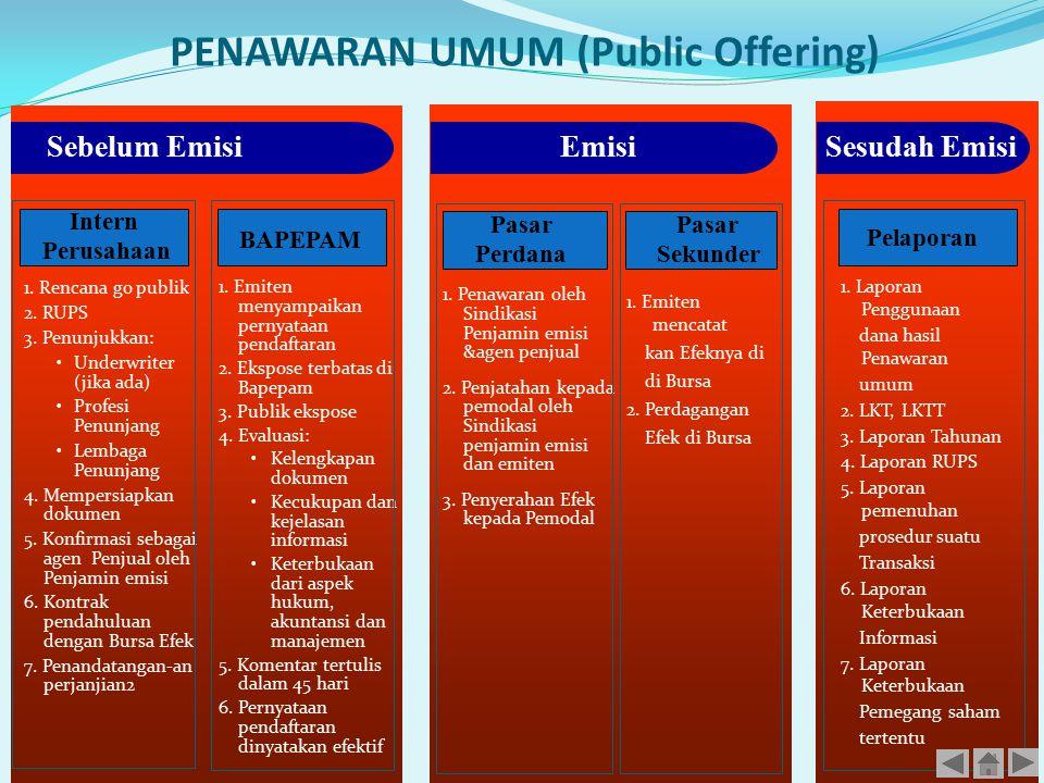 PENAWARAN UMUM (Public Offering)