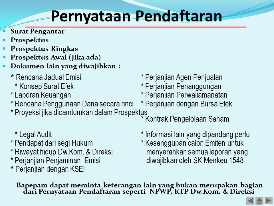 Pernyataan Pendaftaran