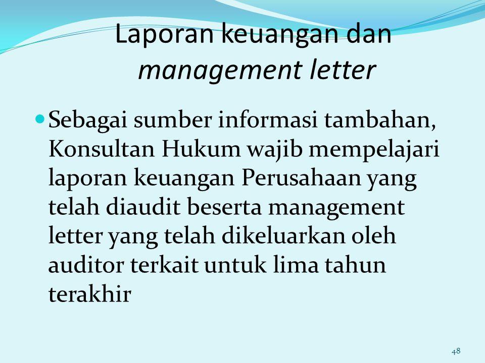 Laporan keuangan dan management letter