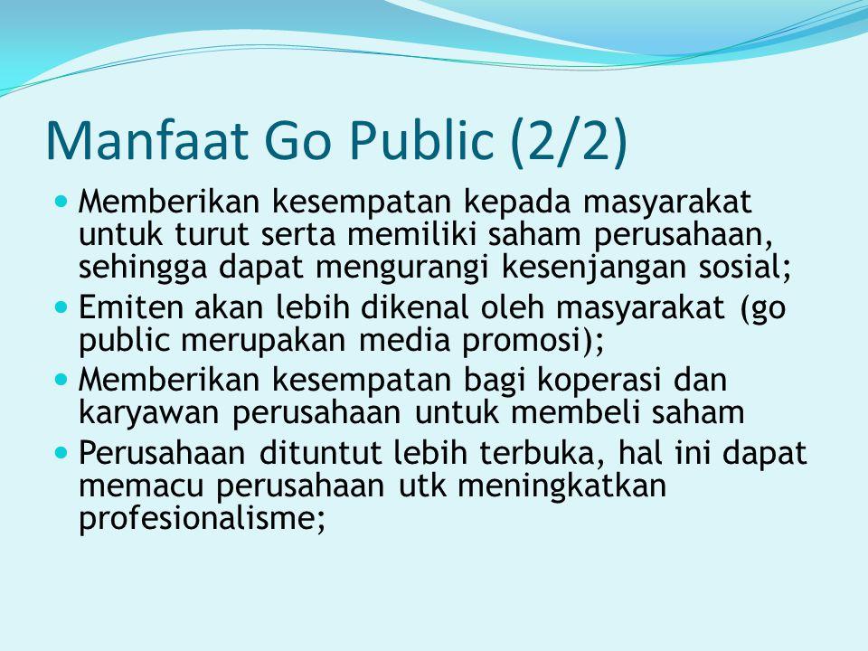 Manfaat Go Public (2/2)