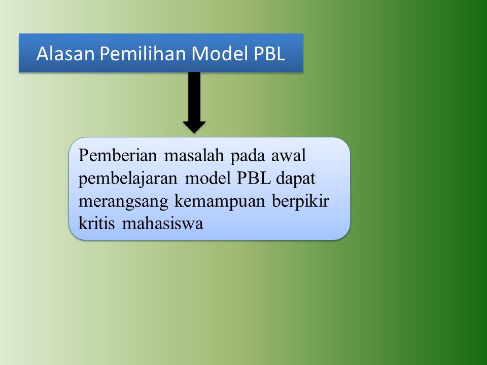 Alasan Pemilihan Model PBL