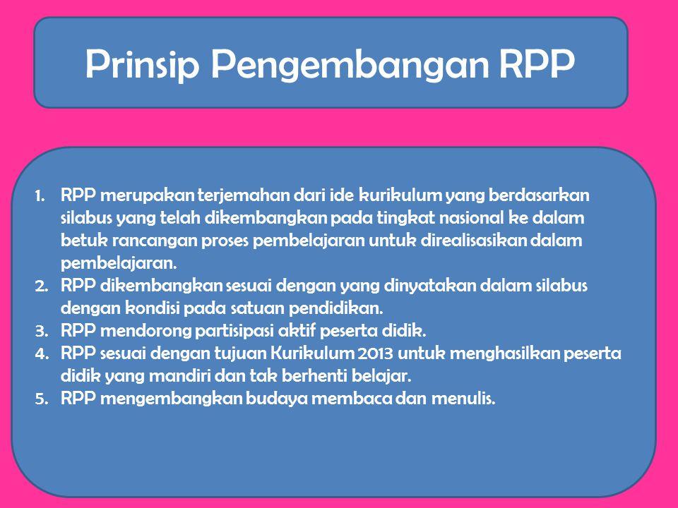 Prinsip Pengembangan RPP