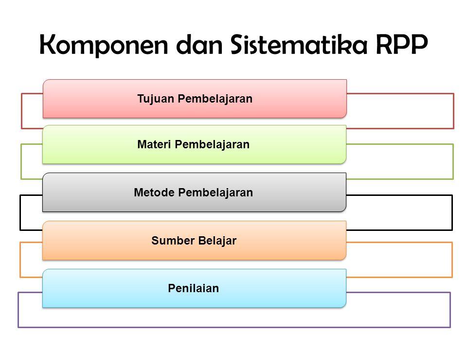 Komponen dan Sistematika RPP