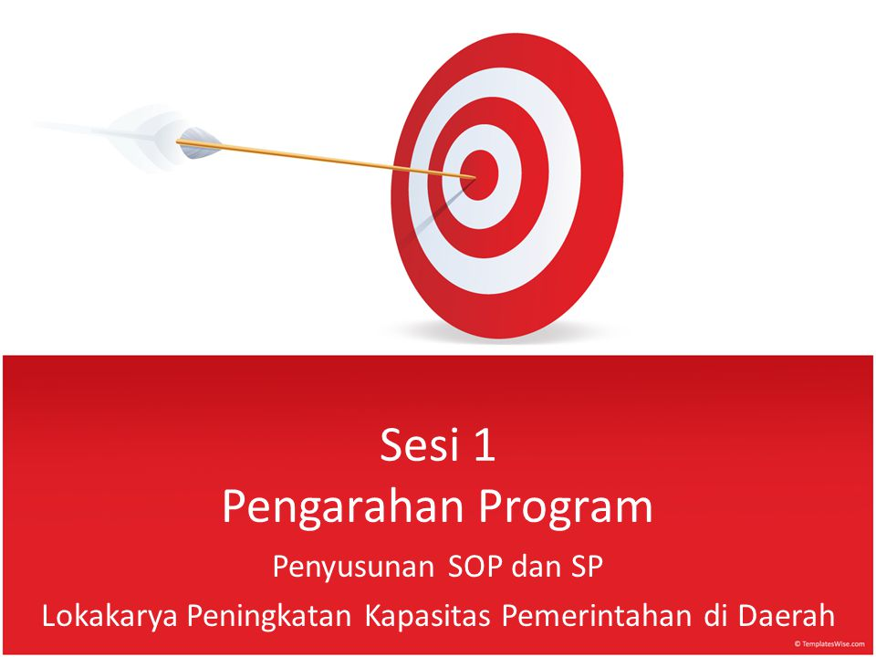 Sesi 1 Pengarahan Program