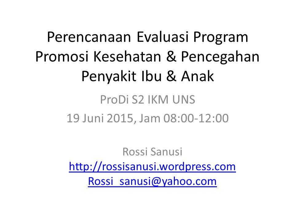 ProDi S2 IKM UNS 19 Juni 2015, Jam 08:00-12:00