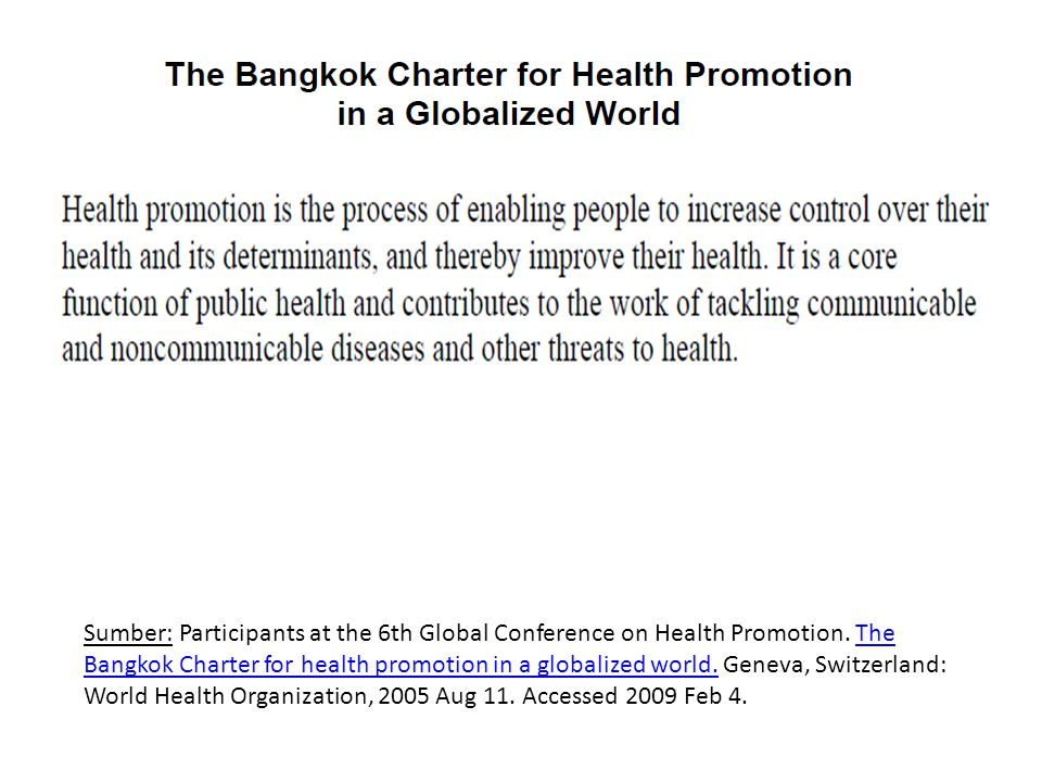 Sumber: Participants at the 6th Global Conference on Health Promotion