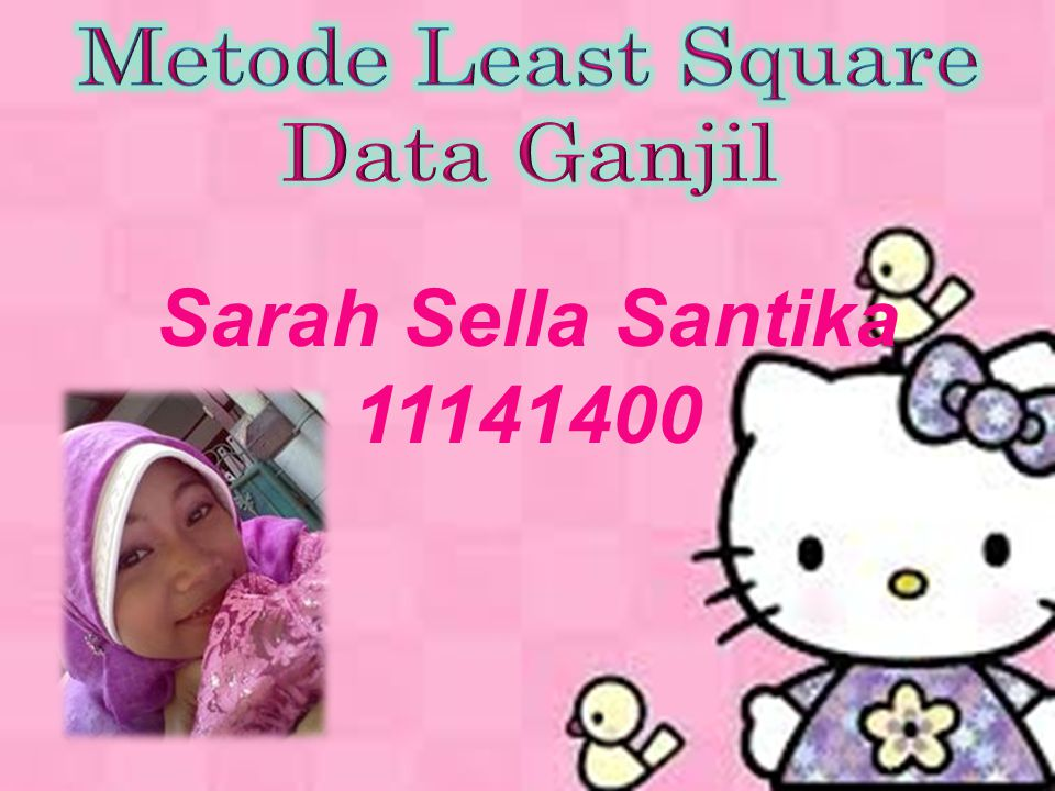 Metode Least Square Data Ganjil