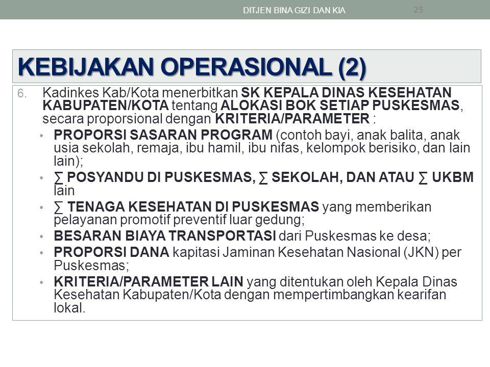 KEBIJAKAN OPERASIONAL (2)