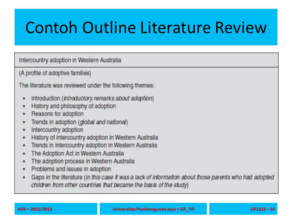 Contoh Outline Literature Review